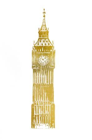 Gold Foil Big Ben by Ethan Harper