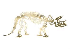 Gold Foil Dinosaur by Ethan Harper