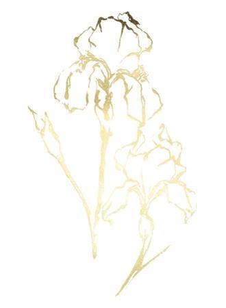 Gold Foil Floral Ink Study II by Ethan Harper