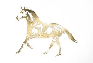 Gold Foil Horse by Ethan Harper