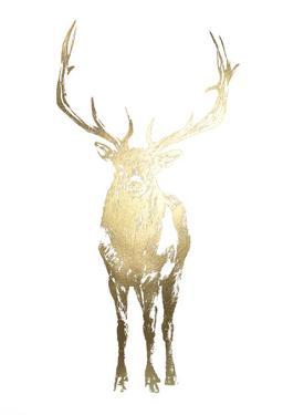 Gold Foil Standing Elk by Ethan Harper