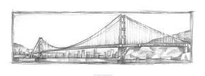Golden Gate Bridge Sketch by Ethan Harper