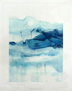 Lustr Blue Currents in Pearl White I by Ethan Harper