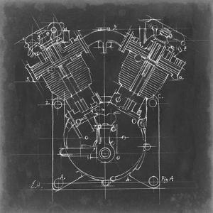 Motorcycle Engine Blueprint II by Ethan Harper