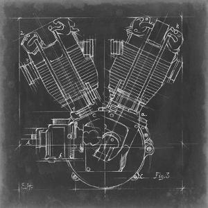 Motorcycle Engine Blueprint III by Ethan Harper