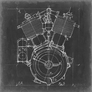 Motorcycle Engine Blueprint IV by Ethan Harper