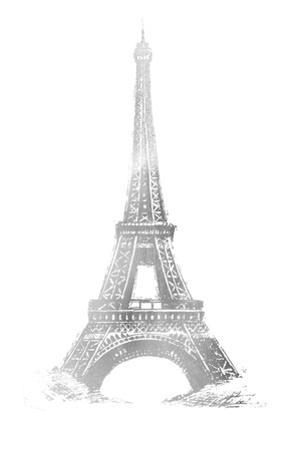 Silver Foil Eiffel Tower by Ethan Harper