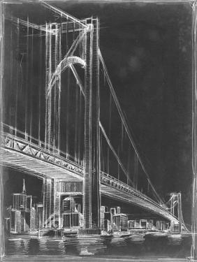 Suspension Bridge Blueprint I by Ethan Harper