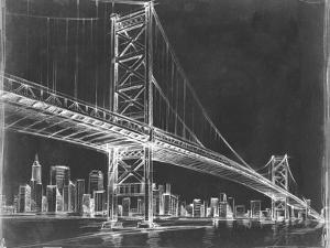 Suspension Bridge Blueprint III by Ethan Harper