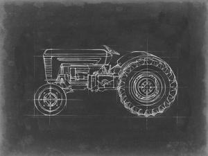 Tractor Blueprint I by Ethan Harper