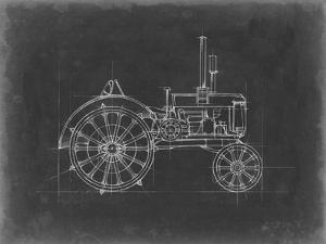 Tractor Blueprint II by Ethan Harper