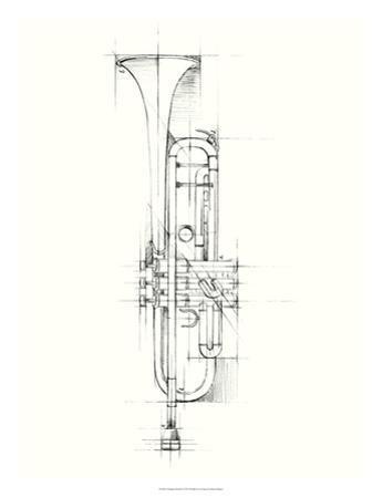 Trumpet Sketch by Ethan Harper
