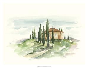 Watercolor Tuscan Villa II by Ethan Harper