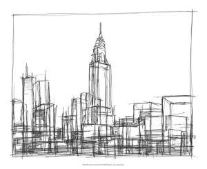 Wire Frame Cityscape II by Ethan Harper