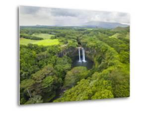 Wailua Falls on the Wailua River, Kauai, Hawaii. by Ethan Welty
