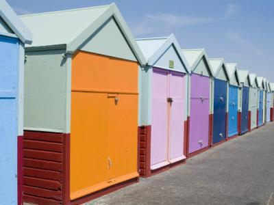 Beach Huts, Hove, Sussex, England, United Kingdom by Ethel Davies