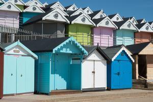 Beach huts, Walton-on-the-Naze, Essex, England, United Kingdom, Europe by Ethel Davies