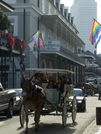 Bourbon Street, French Quarter, New Orleans, Louisiana, USA by Ethel Davies