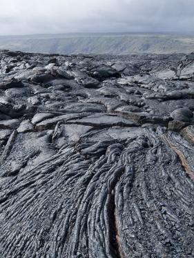Cooled Lava from Recent Eruption, Kilauea Volcano, Hawaii Volcanoes National Park, Island of Hawaii by Ethel Davies