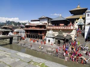 Hindu Festival, Pashupatinath Temple, Kathmandu, Nepal by Ethel Davies