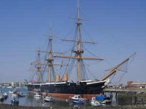 HMS Warrior, 1st Armour-Plated Iron-Hulled Warship, Built for Royal Navy 1860, Portsmouth, England by Ethel Davies