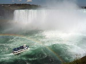 Maid of the Mist Boat Ride, at the Base of Niagara Falls, Canadian Side, Ontario, Canada by Ethel Davies
