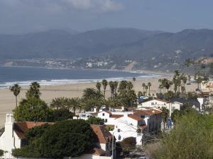 Malibu, from Palisades Park, Santa Monica, California, United States of America, North America by Ethel Davies