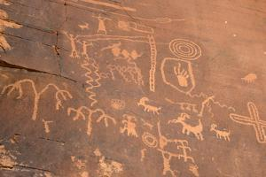Native American Petroglyphs, Valley of Fire State Park, Nevada, Usa by Ethel Davies