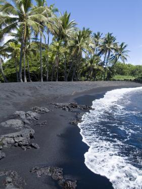 Punaluu Black Sand Beach, Island of Hawaii (Big Island), Hawaii, USA by Ethel Davies