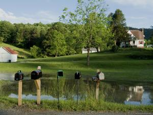 Rural Postboxes, West Virginia, USA by Ethel Davies