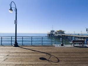 Santa Monica Pier, Santa Monica, California, USA by Ethel Davies