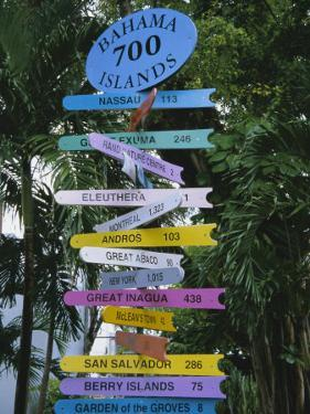Signpost, Freeport, Grand Bahama, Bahamas, Central America by Ethel Davies