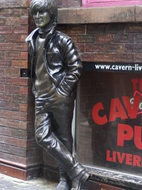 Statue of John Lennon Near the Original Cavern Club, Matthew Street, Liverpool, Merseyside by Ethel Davies