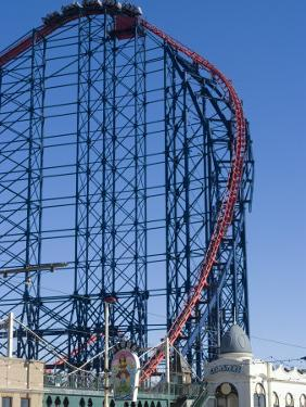 The Big One, the 235Ft Roller Coaster, the Largest in Europe, at Pleasure Beach by Ethel Davies