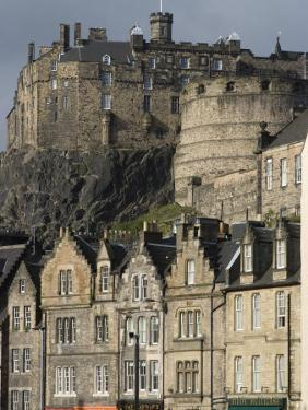 View of Edinburgh Castle from Grassmarket, Edinburgh, Lothian, Scotland, United Kingdom, Europe by Ethel Davies