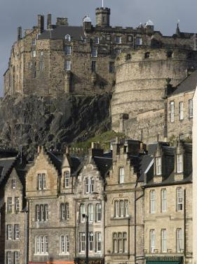 View of Edinburgh Castle from Grassmarket, Edinburgh, Lothian, Scotland, United Kingdom, Europe by Ethel Davies