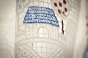 Ethereal Shot of Sheer Curtains with Design of Homes