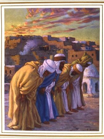 El Rekaa Ou L'Inclination (La Prier) (Prayer of Inclinatio), 1918 by Etienne Dinet