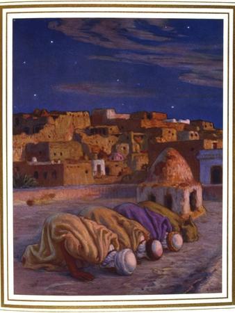 La Prosternation (La Prier)' ('Prayer of Prostration), 1918 by Etienne Dinet