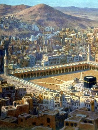 View of Mecca, from La Vie De Mohammed, Prophete D'Allah, C1880-C1920 by Etienne Dinet