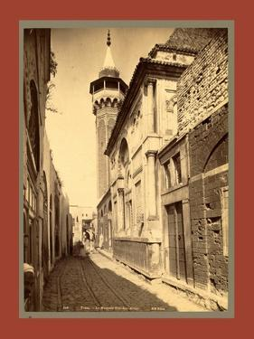 Tunis Mosque Sidi Ben Arous, Tunisia by Etienne & Louis Antonin Neurdein