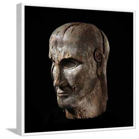 Etruscan Sculpture of Virile Head--Framed Photographic Print