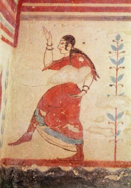 Tomb of the Acrobats, Detail of a Dancer by Etruscan
