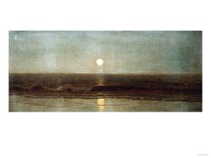 Coastal Sunset by Eug?ne Boudin