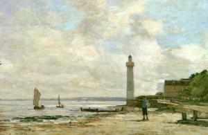 Lighthouse at Honfleur, 1864-66 by Eug?ne Boudin