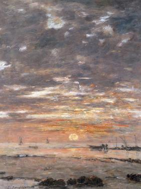 Maree Basse, Soleil Couchant, 1883 by Eug?ne Boudin