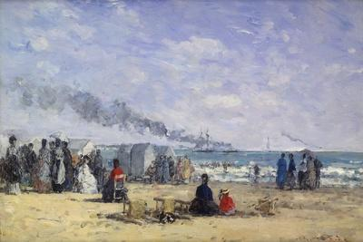 The Beach at Trouville at Bathing Time; La Plage De Trouville a L'Heure Du Bain, 1868