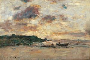 The Coast at Trouville by Eug?ne Boudin