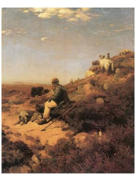 Heathland Shepherd by Eugen Bracht
