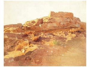 Ruin of Jericho of the Old Testament by Eugen Bracht